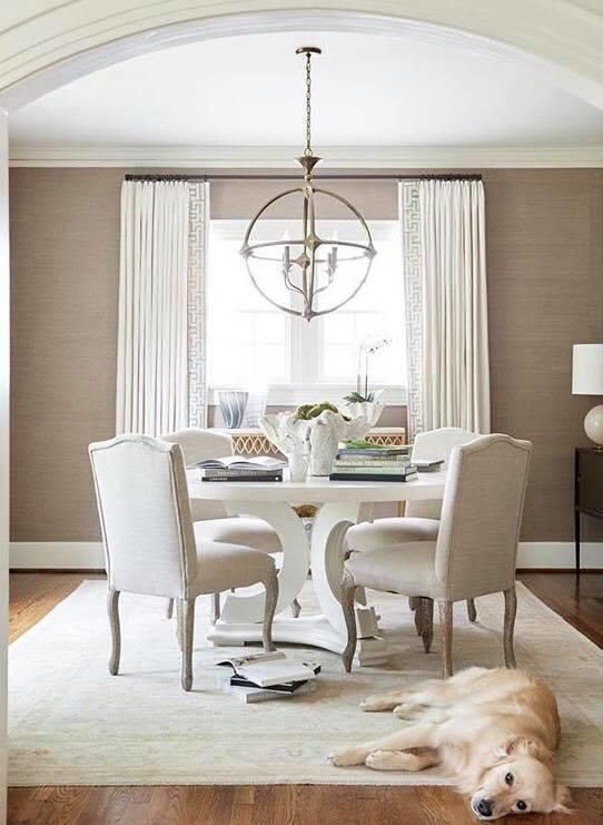 Design by Providence Interiors, featuring Tritter Feefer's CiCi Dining Table. Tritter Feefer will open its doors at the Interior Home + Design Center at Dallas Market; courtesy Tritter Feefer
