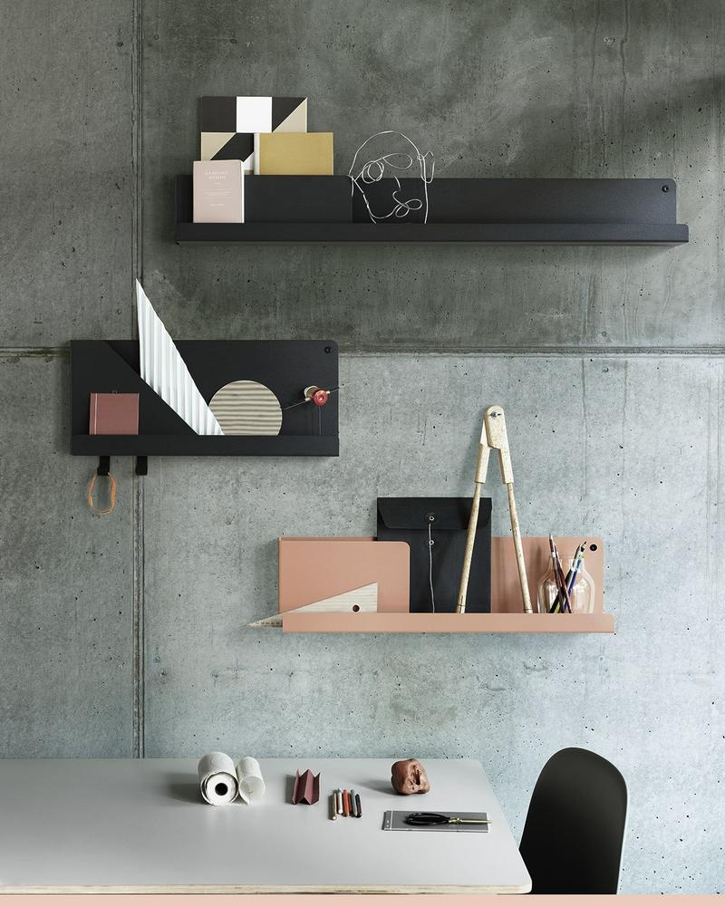 Folded Shelves by designer Johan van Hengel for Muuto; courtesy Muuto