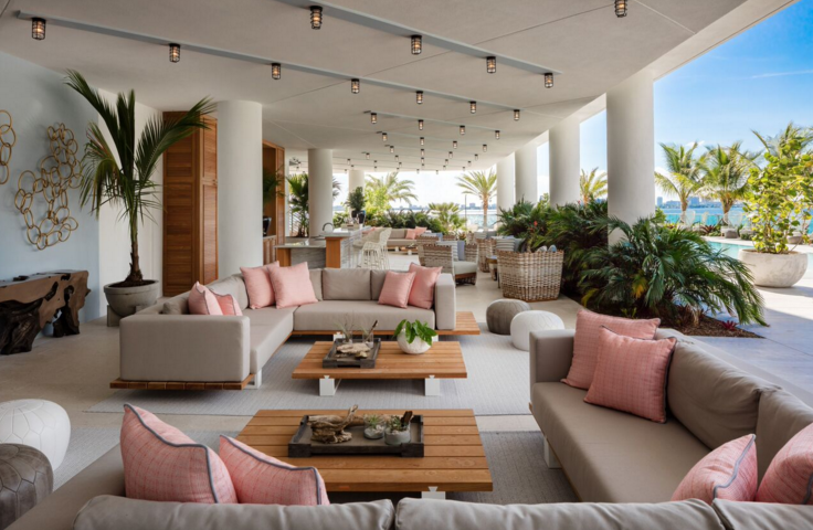 Beach Bar, designed by Thom Filicia; courtesy Biscayne Bay