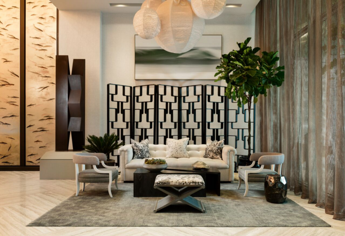 Lobby designed by Thom Filicia; courtesy Biscayne Bay