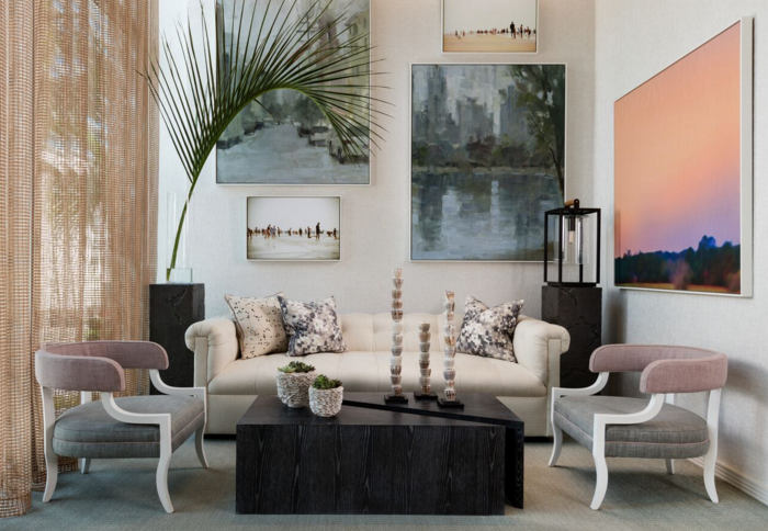 Gallery Sitting Area designed by Thom Filicia