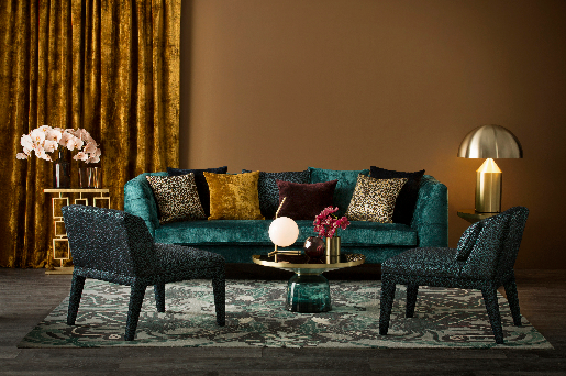 The Marjorelle collection will be available in MOKUM's 15 North American showrooms; courtesy MOKUM