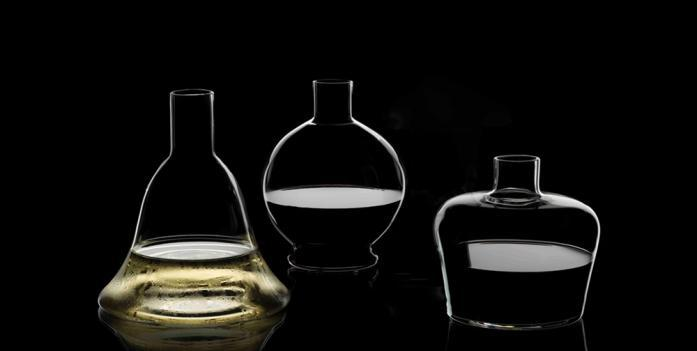 The M Decanter Collection, designed by Maximilian Riedel of Riedel; courtesy Reidel