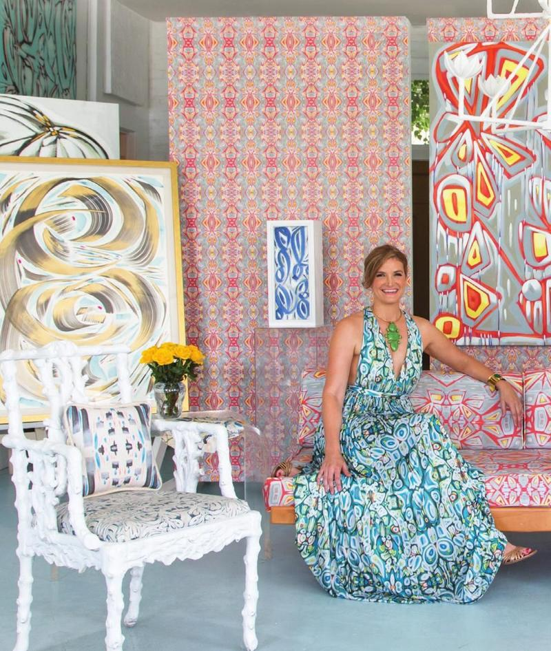 How artist Amanda Talley started her wallpaper and fabric business