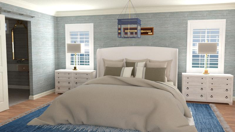 Master bedroom rendering; courtesy Designs Rendered, LLC