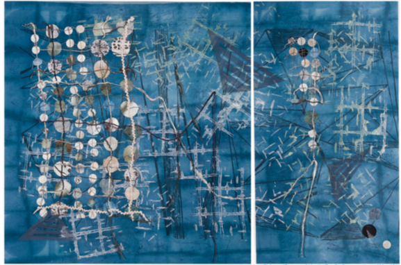 """Fractured Line,"" textile by Mary Fisher; courtesy Mary Fisher"