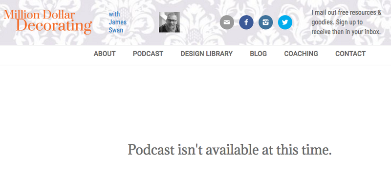 James Swan's podcast library is currently unavailable.