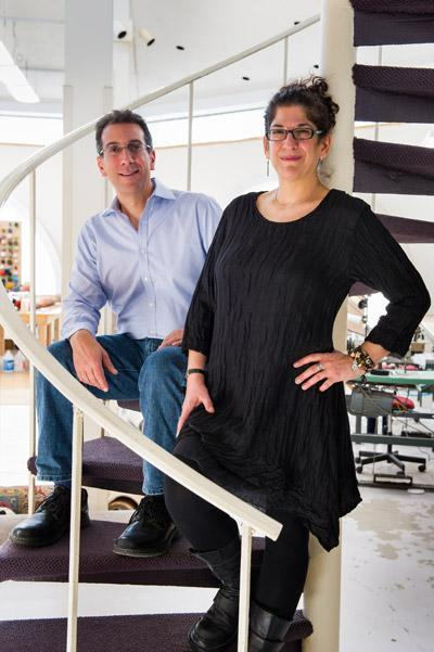 Angela and Edmond Hagopian ushered in a new era for their grandfather's original rug company, with a focus on preserving hand-knotted and handwoven rugs; courtesy DRR