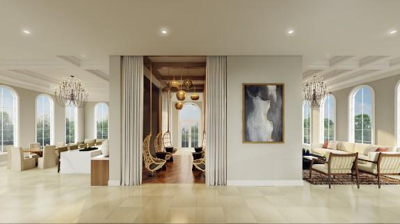 Altantico project, clubroom entry, designed by V Starr; courtesy V STarr Interiors