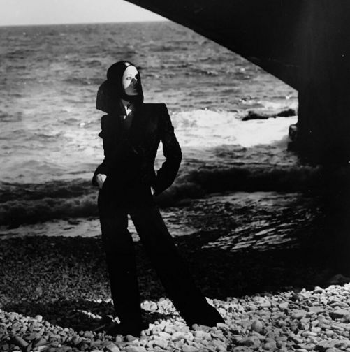 Model in Trouser Suit, 1975, by Helmut Newton; courtesy of Guy Regal from a Private Collection