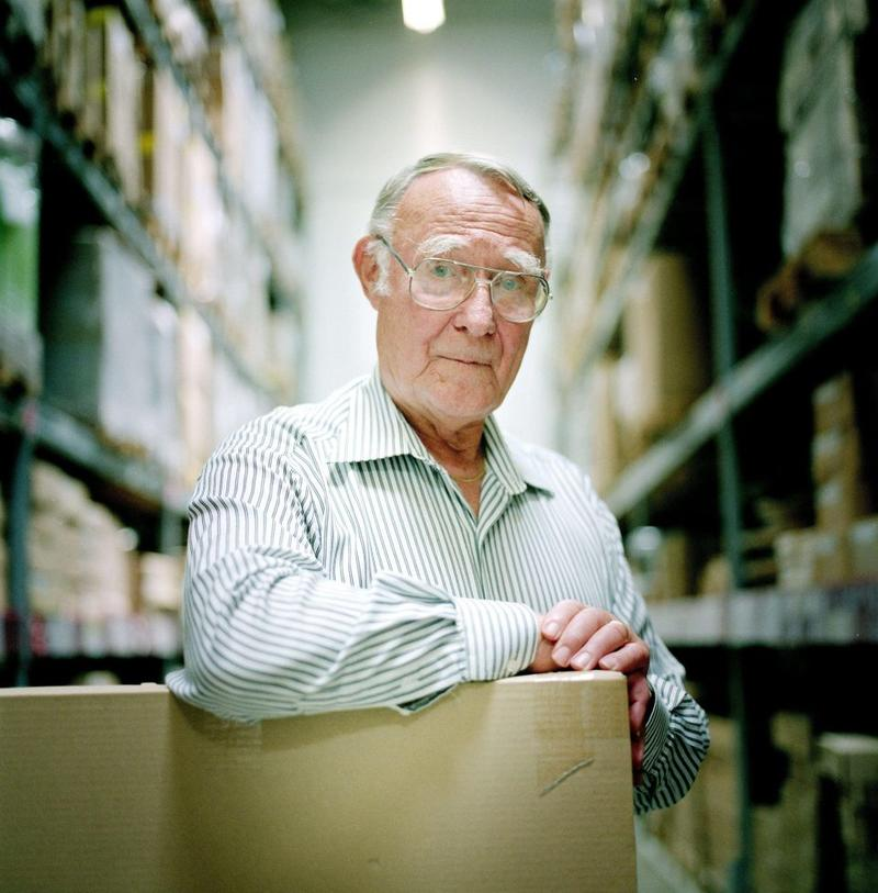 Ingvar Kamprad; courtesy Rex Features