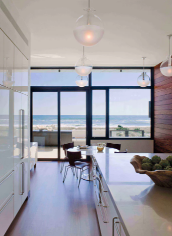 Southampton Oceanfront Kitchen by David Scott Interiors, ltd., appears on Dering Hall; courtesy Michael Moran
