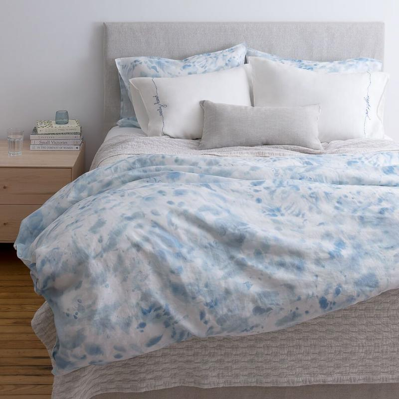 The newly unveiled Ocean Duvet Cover in Blue by Rebecca Atwood; courtesy Rebecca Atwood