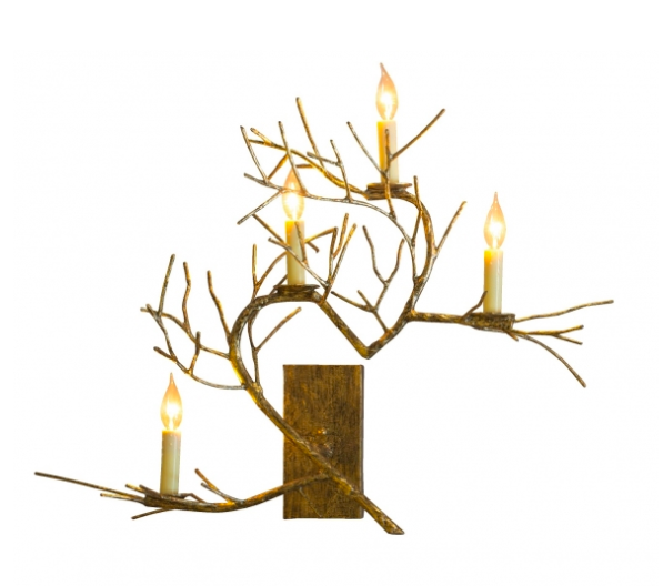 Woodland Wall Sconce, handcrafted in steel and papier-mâché; courtesy Fisher Weisman Collection