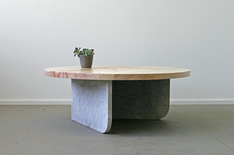 Elijah Leed Design's Durham Ibsen low table at Mill Village