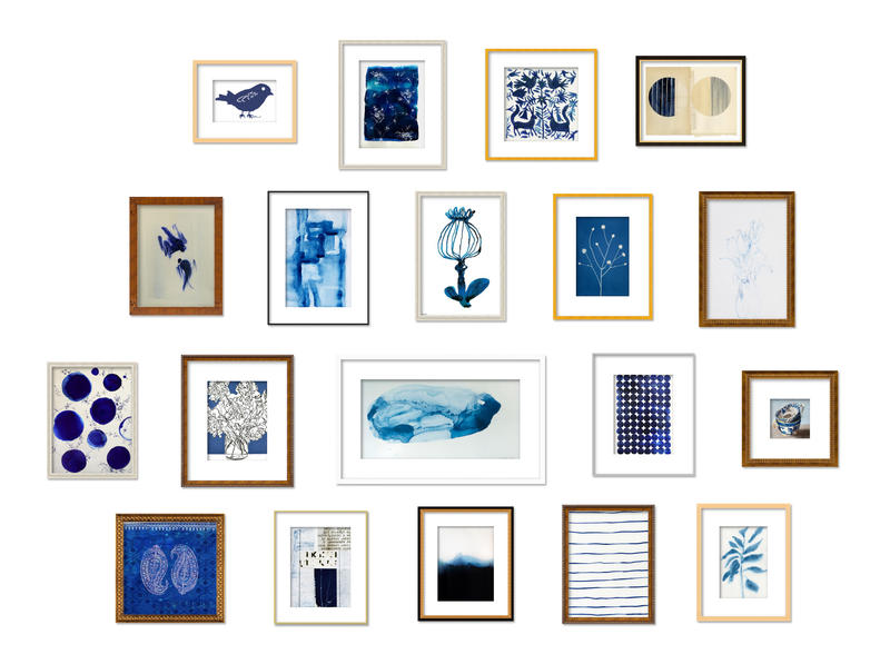 Artfully Walls' names blue and white as a top trend.