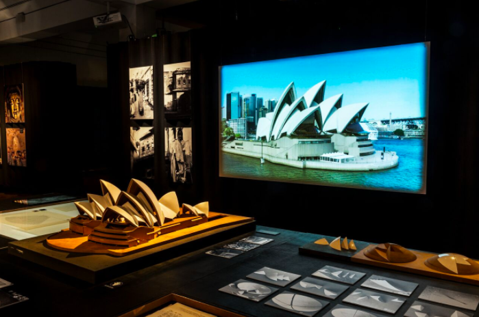 Inside the exhibition; photo by Horisont © Utzon Center; courtesy of the Utzon Center