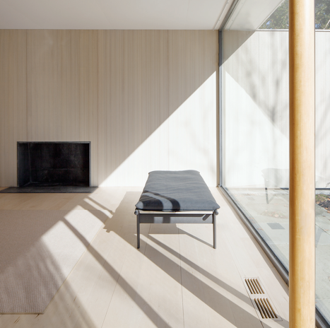 The Twill Weave Daybed at Philip Johnson's Thesis House in Cambridge, MA; all photos by Daniele Ansidei.