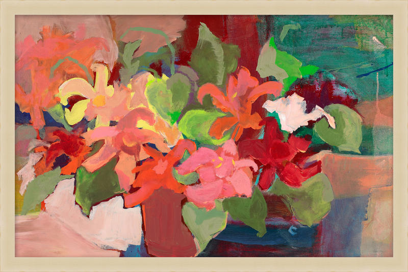 Coral Flowers painting; Kate Spade New York wall decor collection, courtesy Wendover Art Group