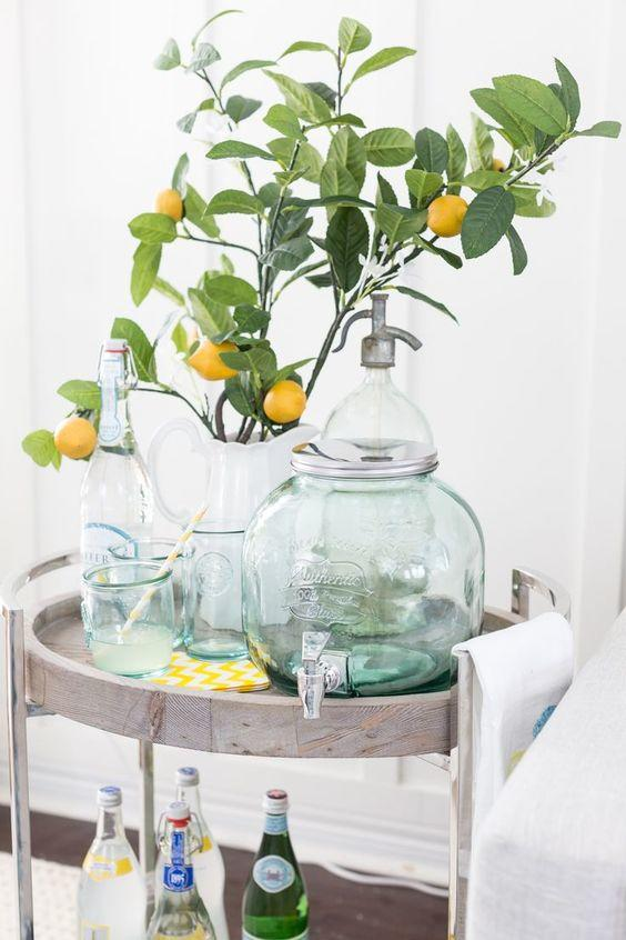 Summer bar carts are trending according to Pinterest's data; courtesy Pinterest