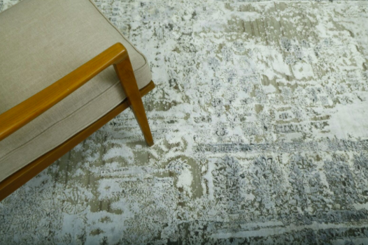 The Chanderi carpet design was inspired by the borders of saris.