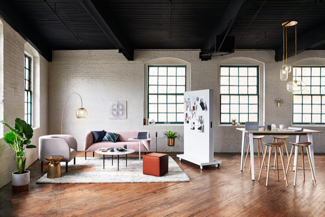 West Elm and Steelcase are launching a resimercial line this year; courtesy