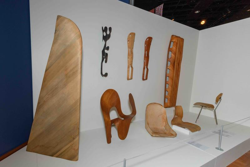 Early examples of Charles and Ray Eames work with splints; photo by Doug Coombe