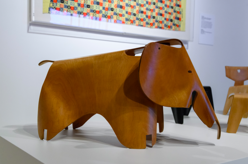 Elephant produced by Eames out of plywood; photo by Doug Coombe