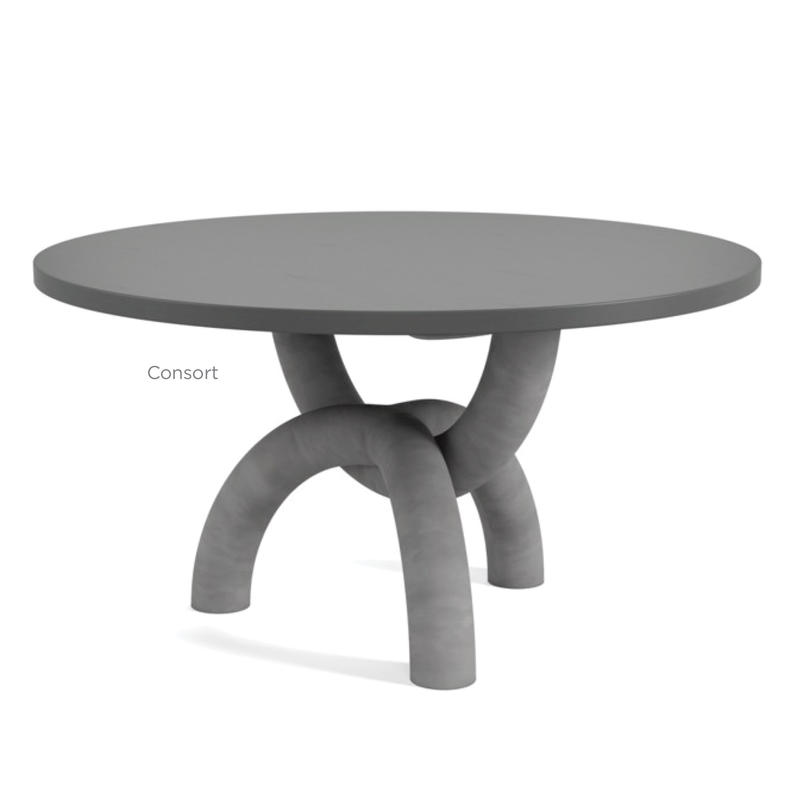 Smith Boyd noticed a minimalism trend out in full force, such as at work in this Consort table; courtesy