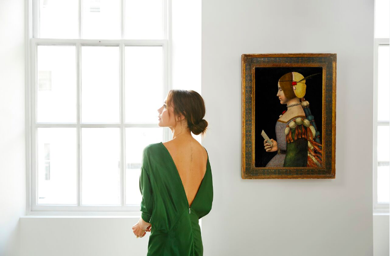 Victoria Beckham; photo by Chris Floyd, courtesy Sotheby's