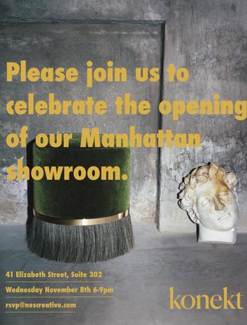 KONEKTMANHATTAN SHOWROOM OPENING