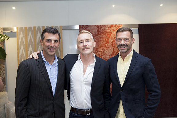 Giulio Capua, publisher and chief revenue officer, Architectural Digest, with designers Russell Groves and Todd Allen