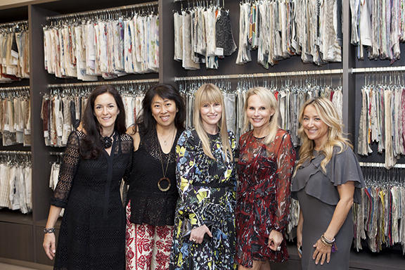 Catherine Croner, design director, Cowtan & Tout; Miry Park, vice president of marketing, Cowtan & Tout; Amy Astley, editor in chief, Architectural Digest; Key Hall, chief executive officer, Cowtan & Tout