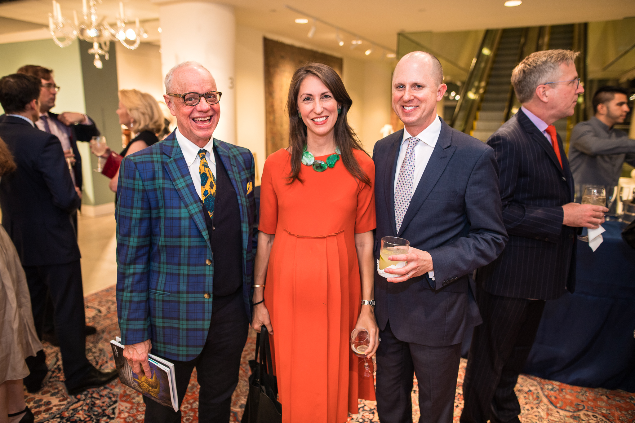 Ralph Harvard of Ralph Harvard Inc., Julia Noran of Editor at Large and Jason Busch, Sotheby's division director, Decorative Arts
