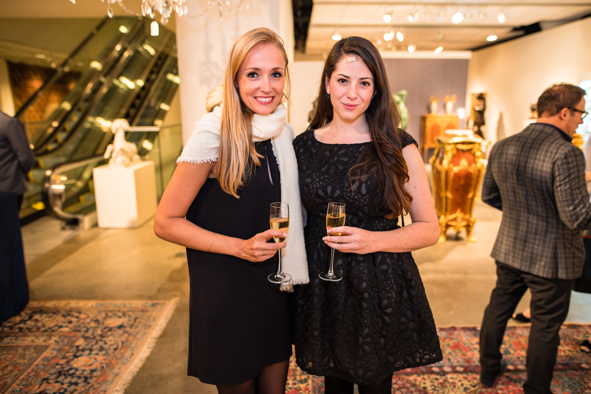 Eleonore Dethier and Caitlin Cruickshank of Sotheby's
