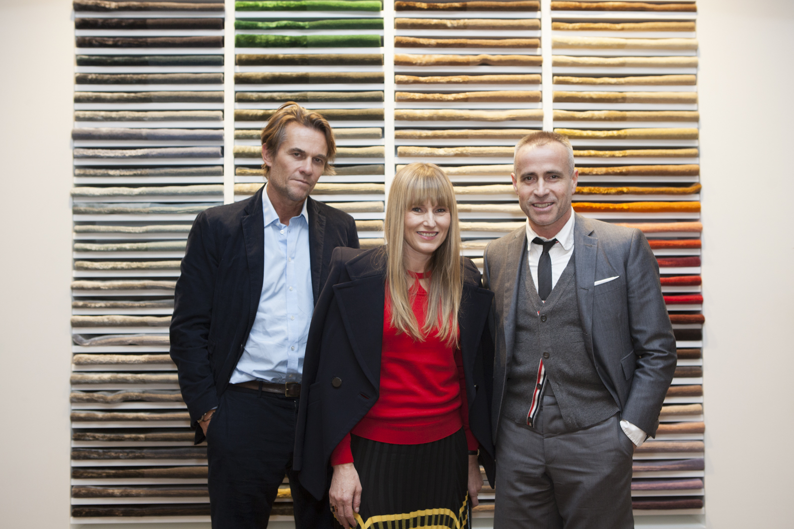 Christopher Sharp, Amy Astley and Thom Browne