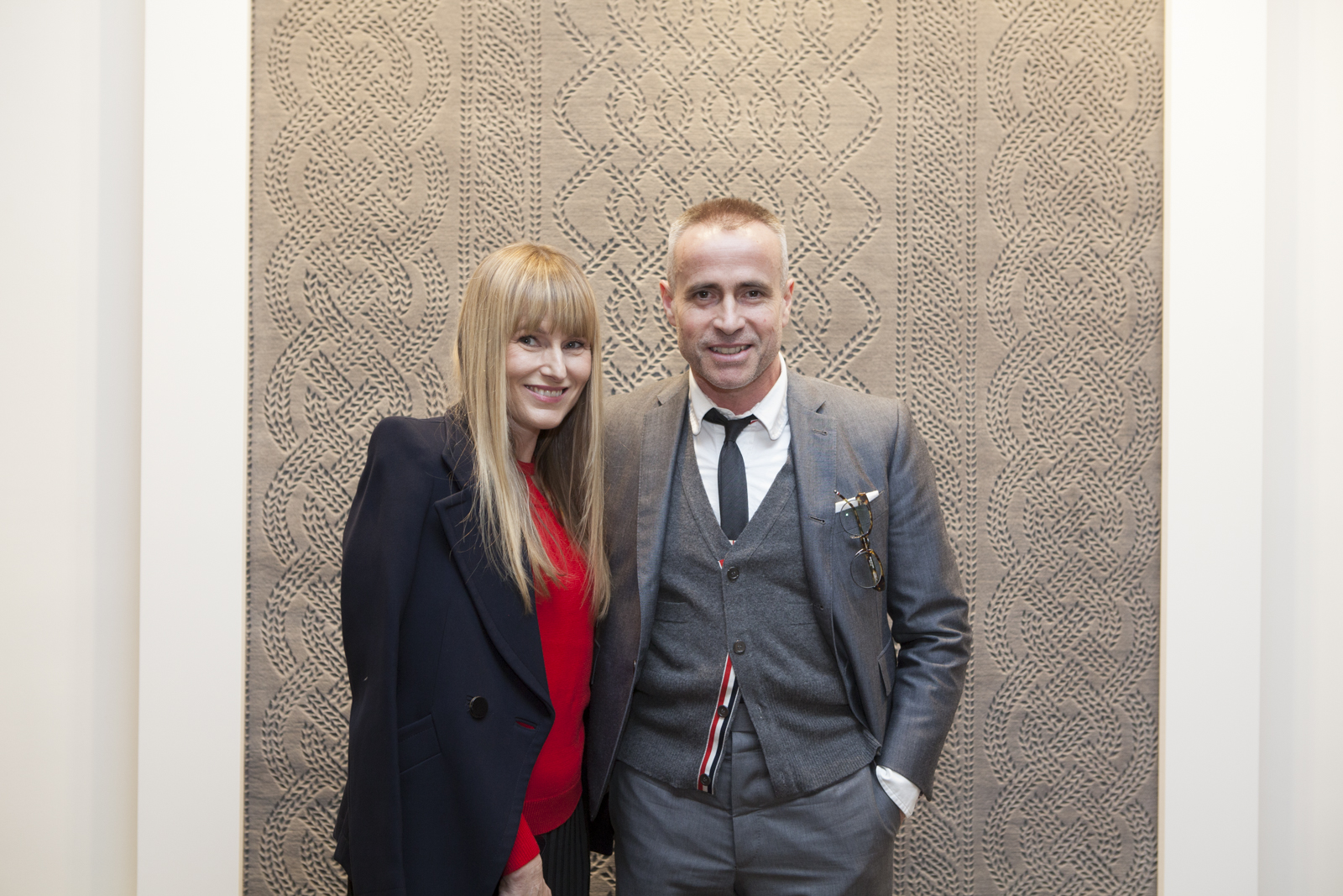 Thom Browne and Amy Astley