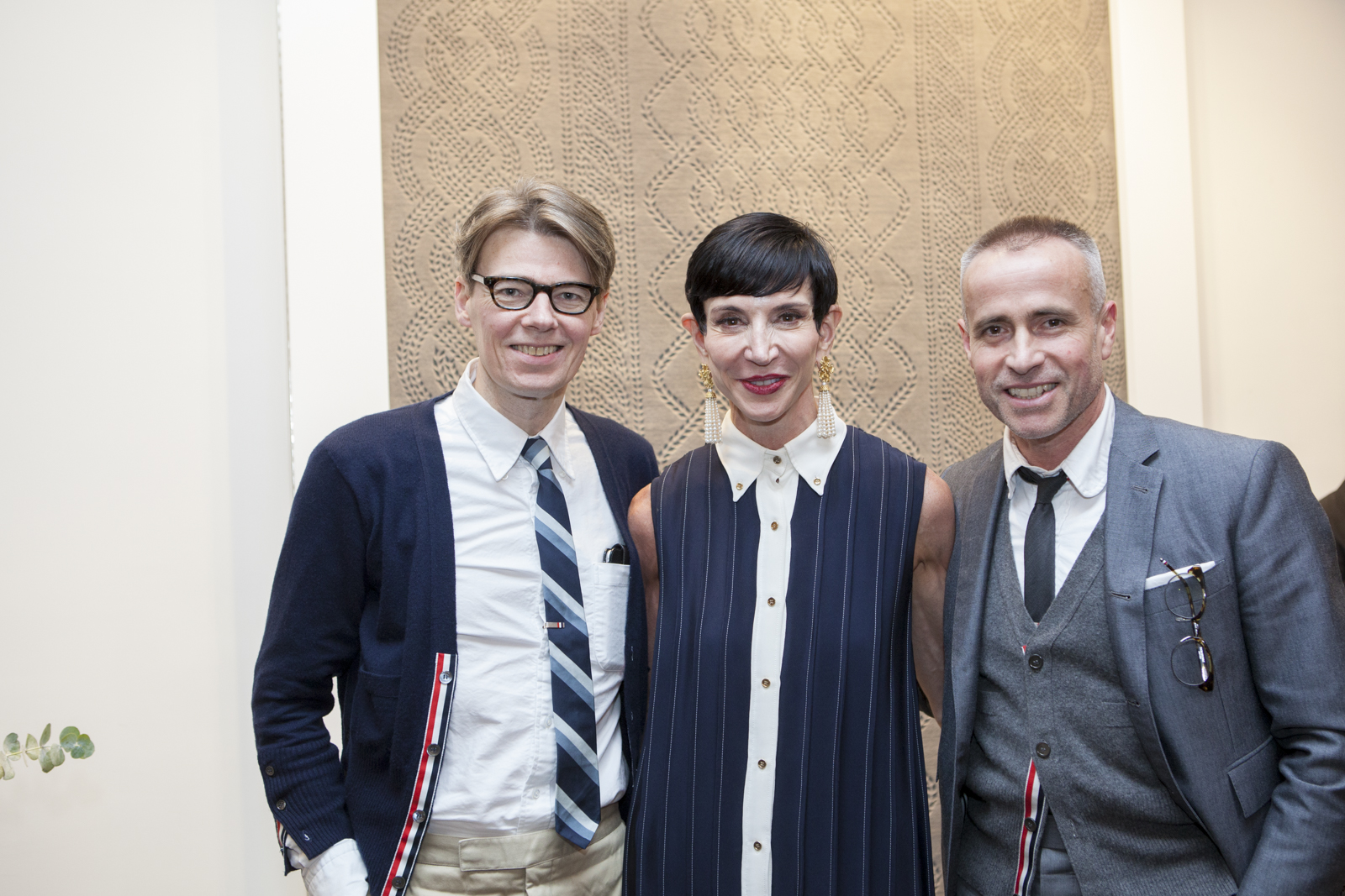 Andrew Bolton, Amy Fine Collins and Thom Browne