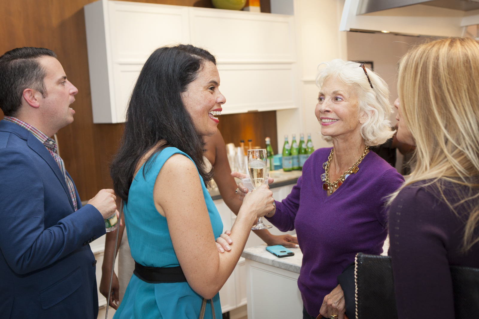 Artist Maureen Chatfield, talking with other guests