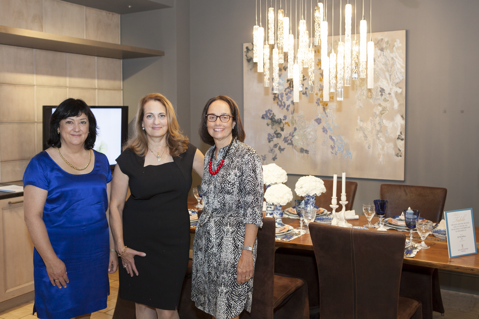 Wendy Kvalheim of Mottahedeh; Marianne Rosenberg of Rosenberg and Co.; Regina Bilotta of Bilotta Kitchens