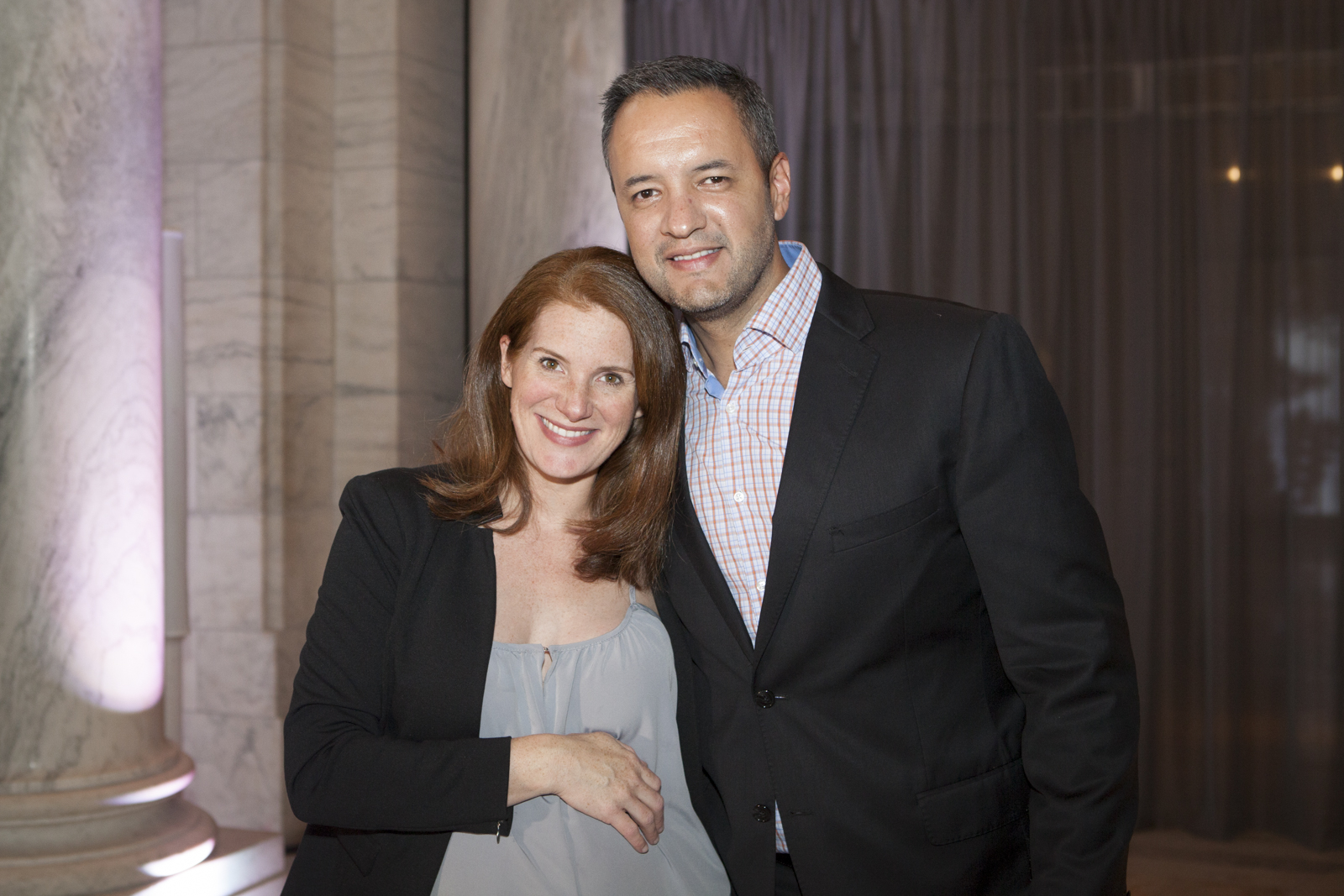Sophie Donelson of House Beautiful with Lorenzo Marquez of Cosentino