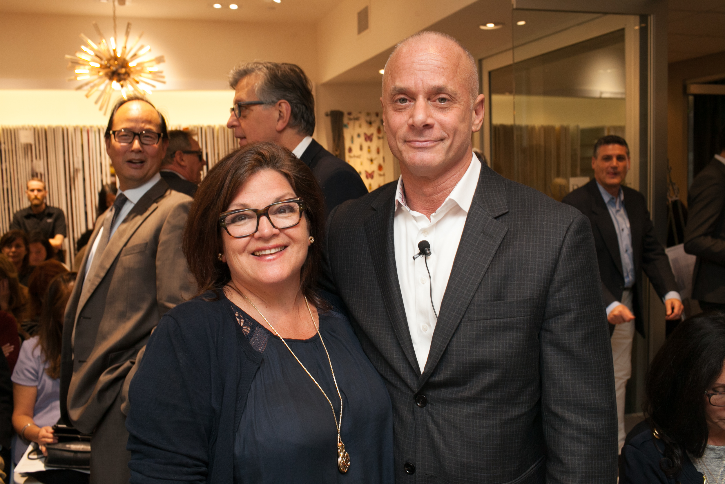Melissa Mittag and Carl Dellatore at the Elle Decor keynote