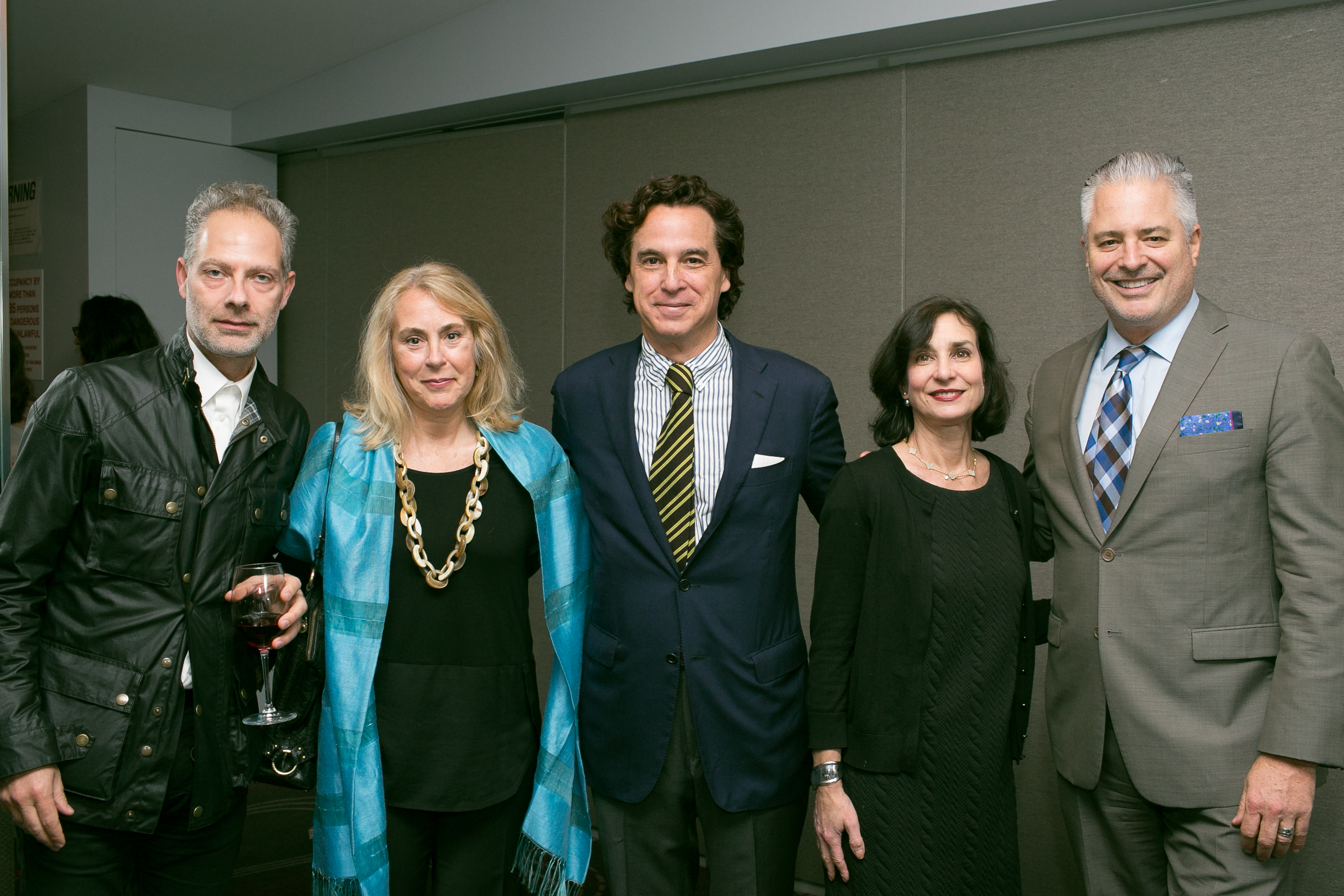 Designer Christopher Maya (center) with Hearst Design Group's Eleftherios Kardamakis, Doretta Sperduto, Brenda Saget and Sean Sullivan