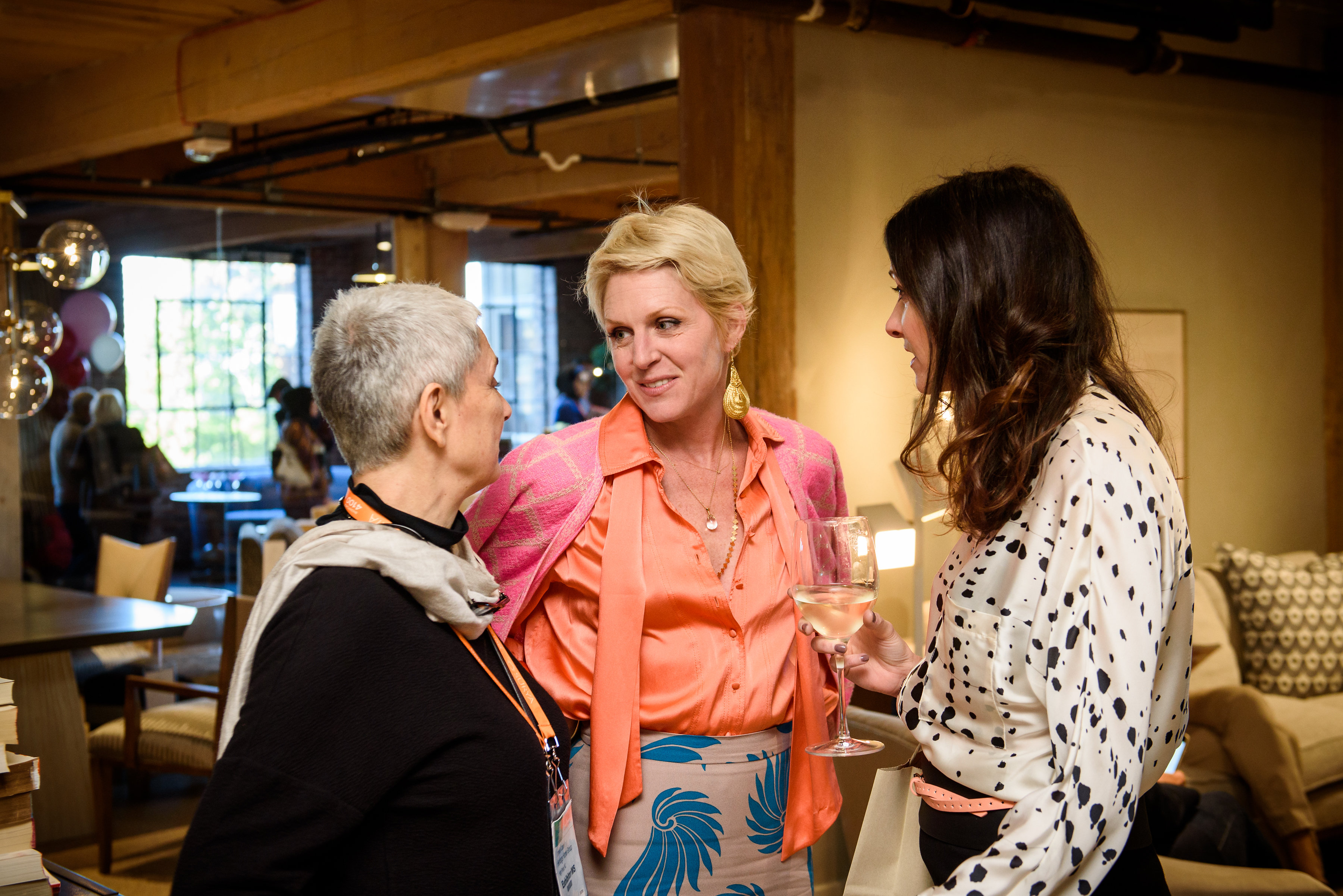 Susan Hable (center) with guests