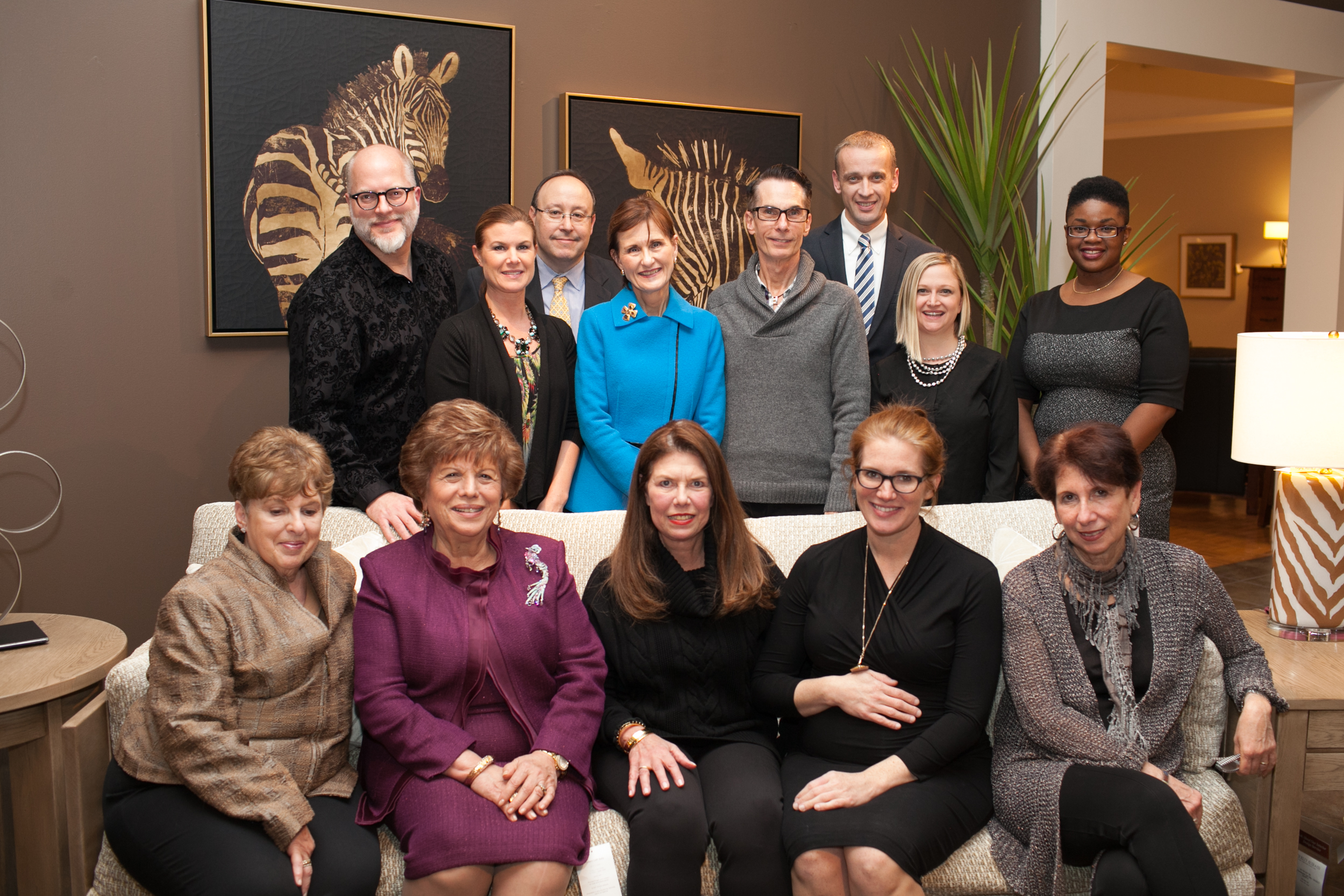 The Stickley team, with Sophie Donelson