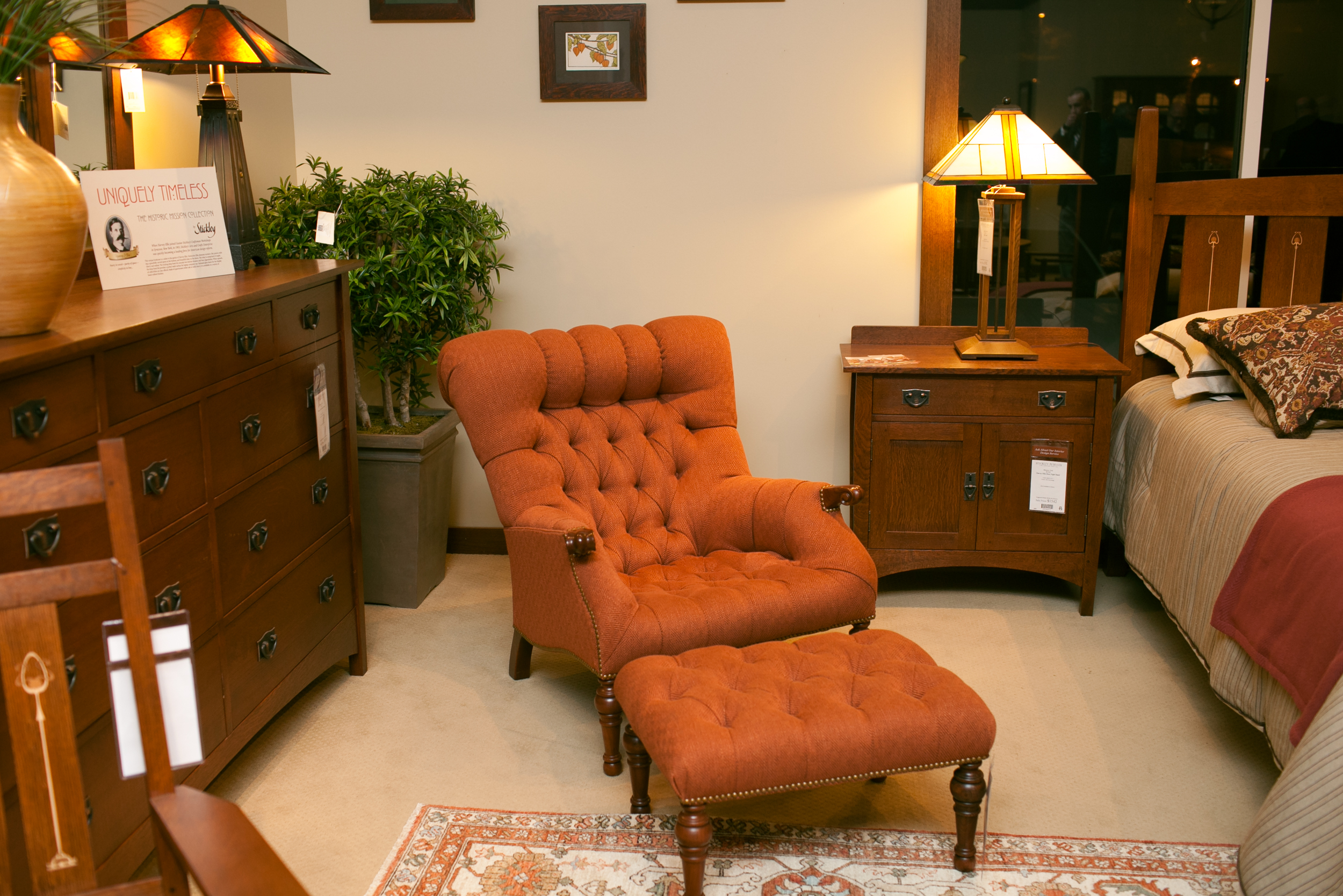 A design vignette at the Stickley store