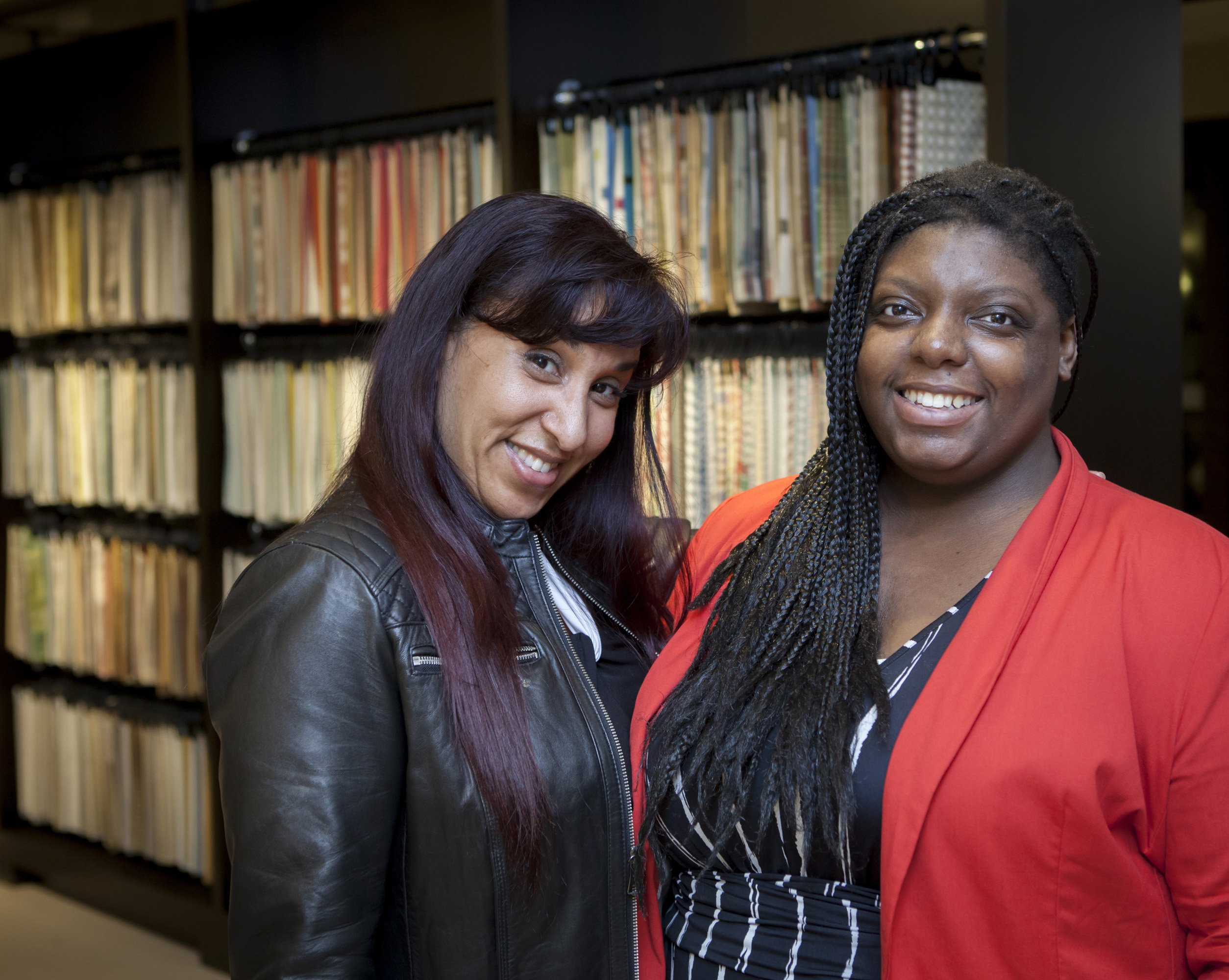 NYSID BFA student Maggie Vergara and architect Shakera Kyle