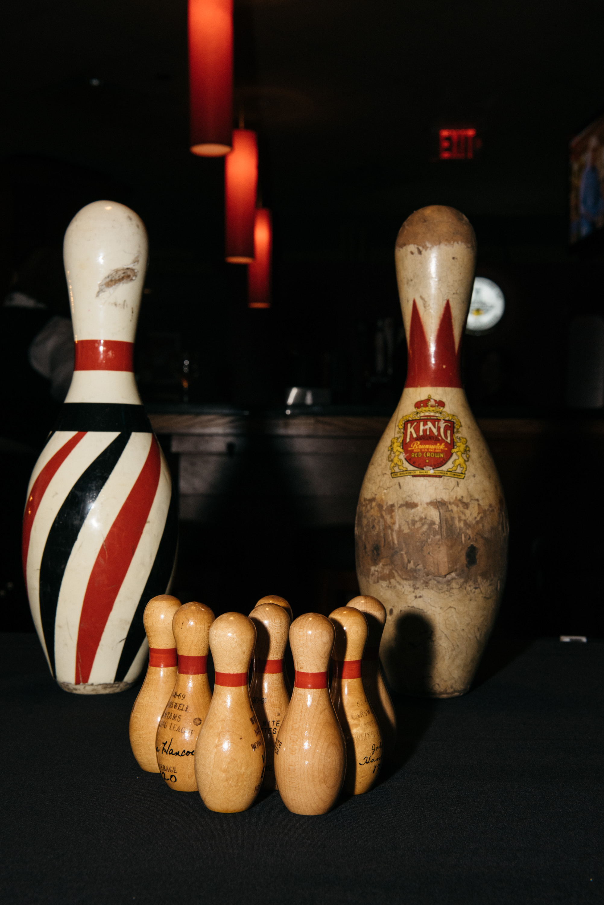 Vintage Bowling Pins were rewarded to winners