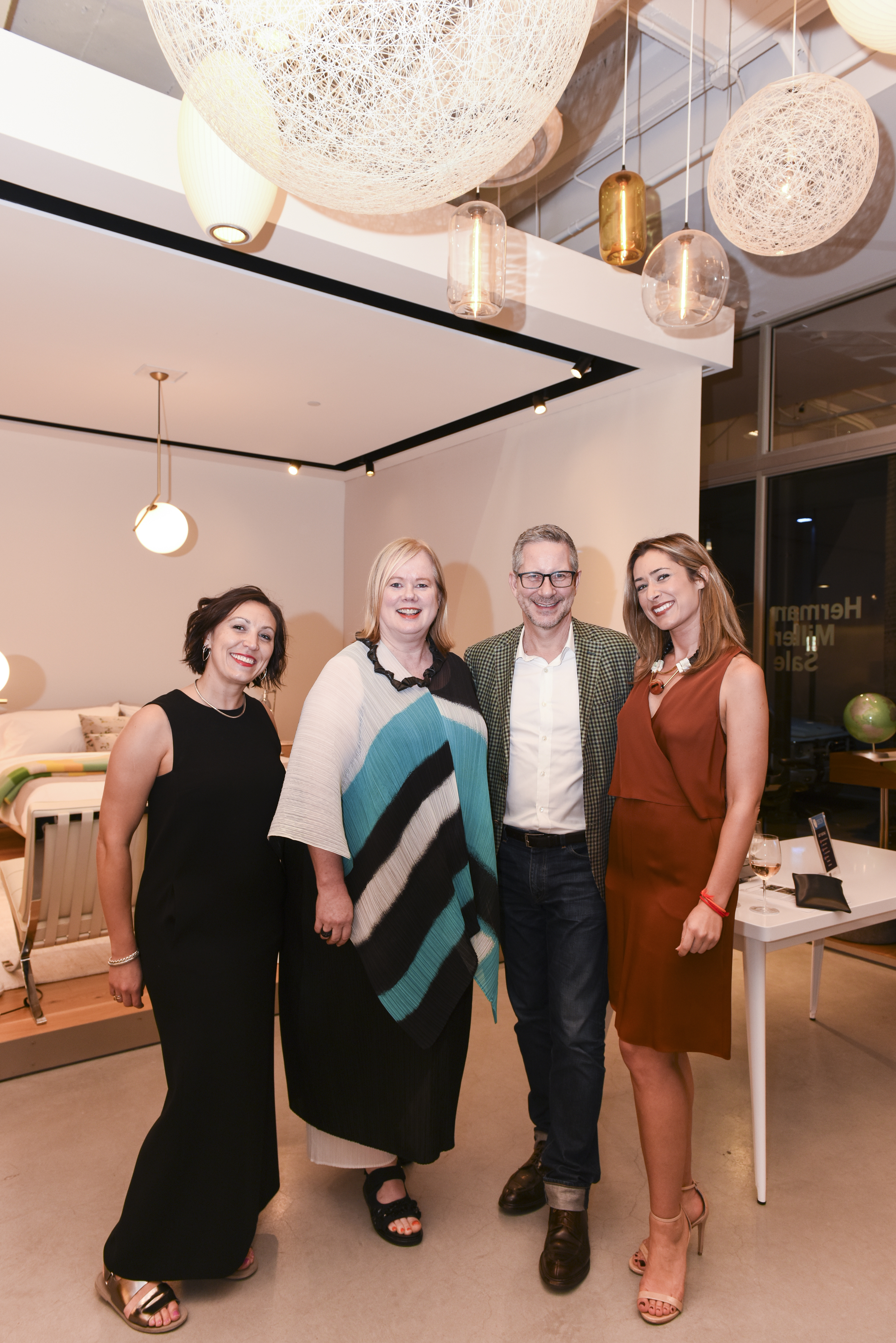DWR's Kim Phillips, Sandra Hansel, and Vienna Bandur with Elle Decor's Michael Boodro