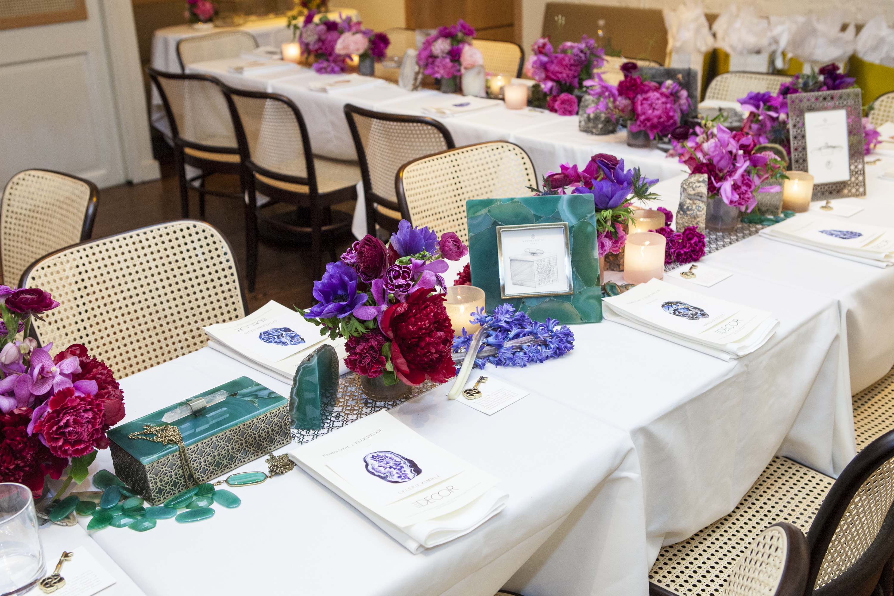 The new collection showcased on the table setting